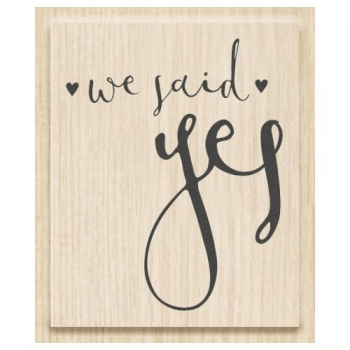 Stempel Hochzeit - we said yes